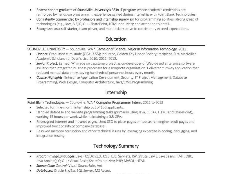Stunning Idea Computer Science Resume Example 15 Objective For ...