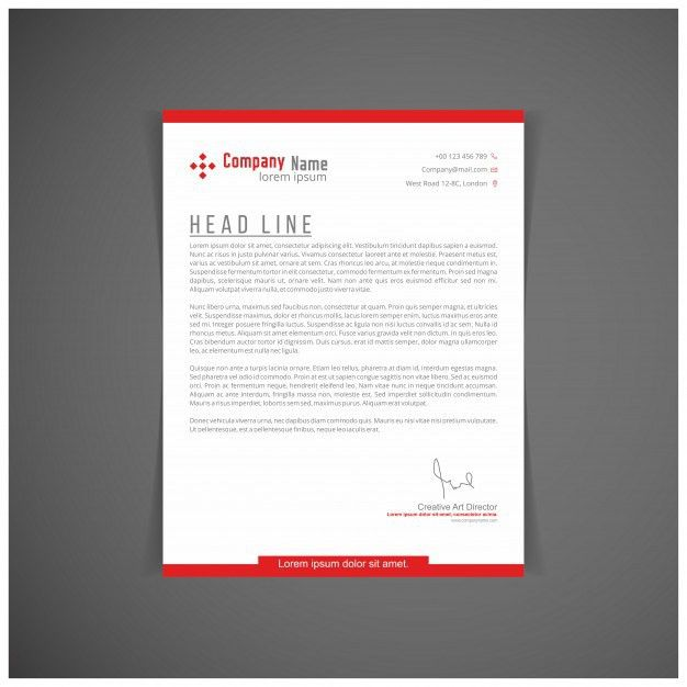Red letterhead template Vector | Free Download