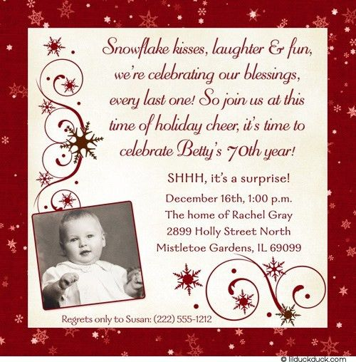 70Th Birthday Invitation Wording | christmanista.com