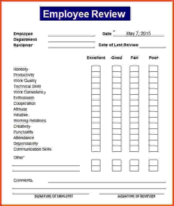 Employee Review Template.employee Performance Review Form.jpg ...