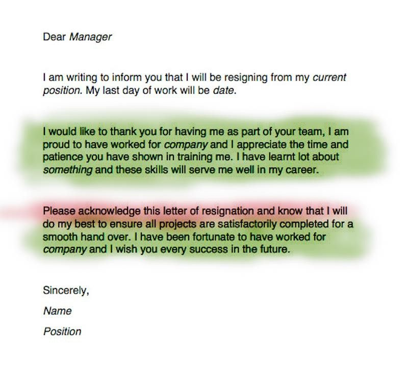 Write a Resignation Letter | Resignation letter, Career and Job search