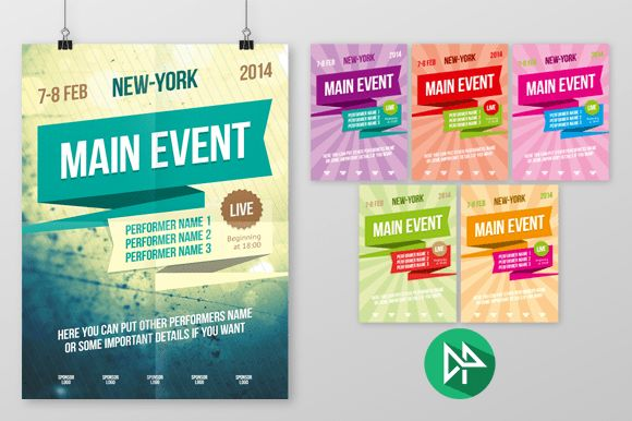 Check out Multipurpose poster template, vol 2 by polshindanil on ...