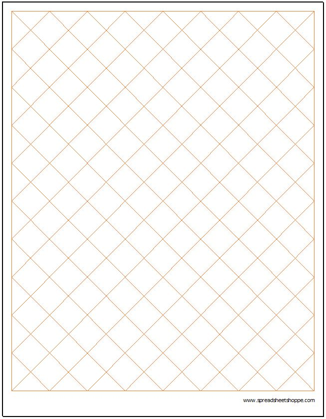 Diamond Graph Paper Template - Spreadsheetshoppe