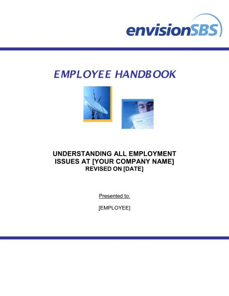 Employee Handbook - Template & Sample Form | Biztree.com
