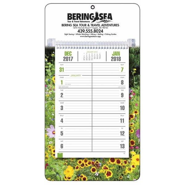 Full-Color Bi-Weekly Memo Calendar - 2018 with Custom Logo ...