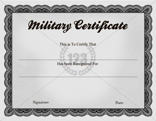 Quality Military Certificate Templates - 123Certificate Templates ...