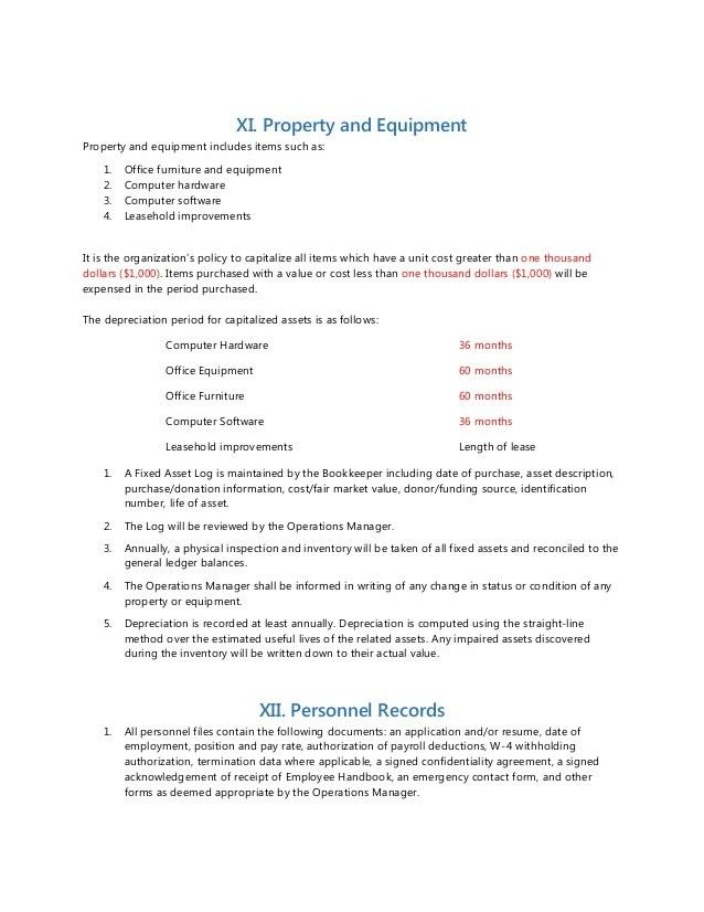 Accounting Policy Manual Template   Contegri.com
