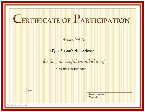 21 best Special Certificates images on Pinterest | Award ...