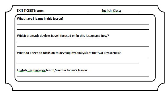 Exit Tickets – Try This Teaching