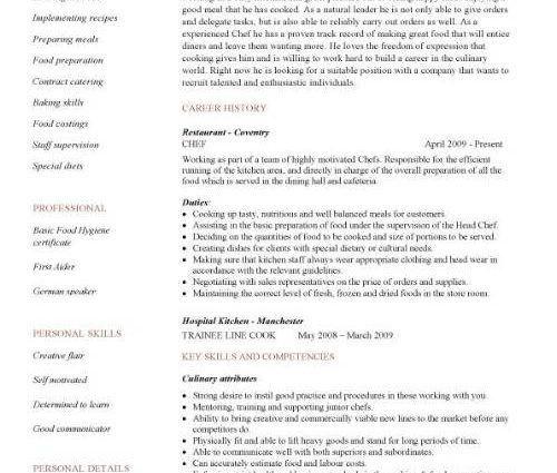 100+ [ Chef Resume Samples ] | Cook Resume Resume Cv Cover Letter ...