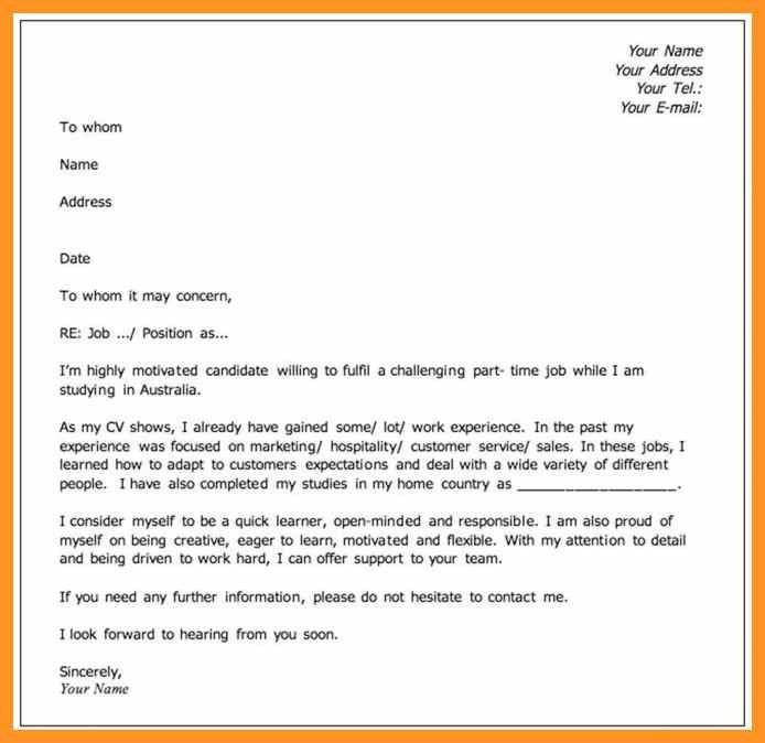 what should i put on a cover letter | bio letter format