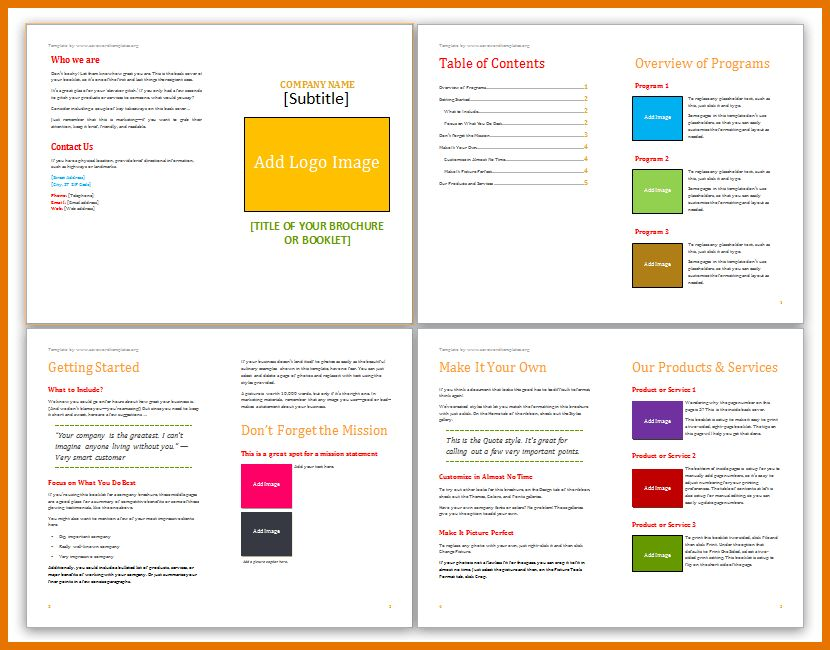 5+ microsoft word brochure templates | Itinerary Template Sample