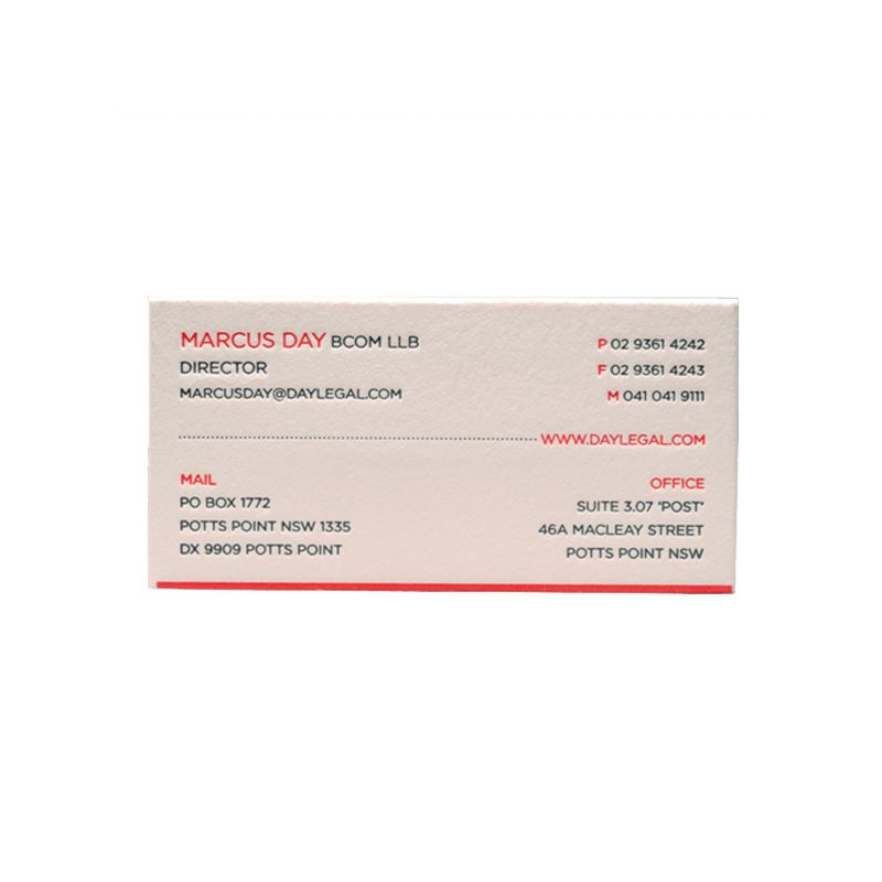 Day Legal business card design - RFID and access control specialist