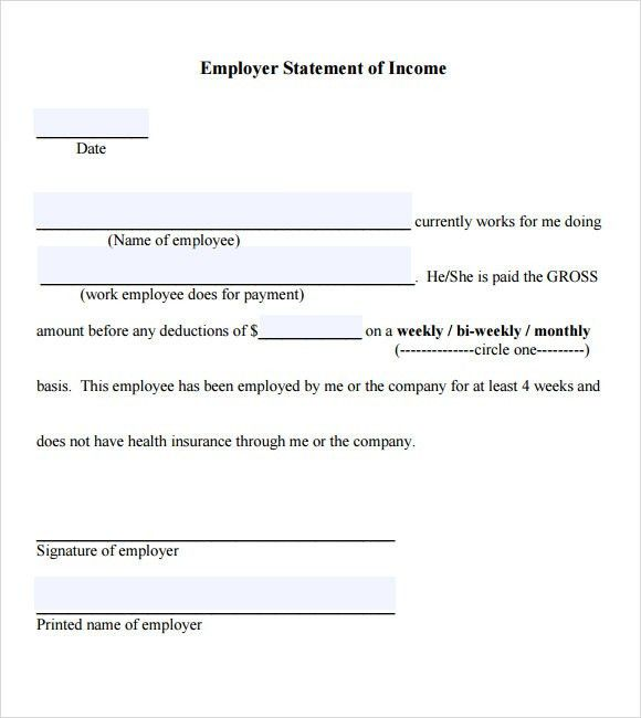 Example Employment Verification Letter Income | PRINTABLES ...
