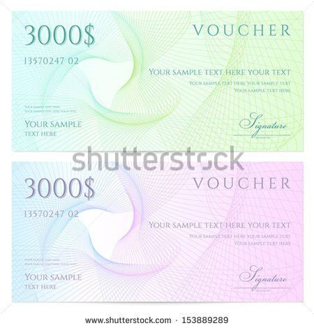 Gift Certificate Voucher Coupon Template Colorful Stock Vector ...