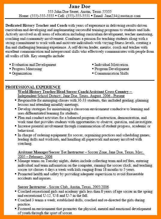 coaching resume | coaching-resume
