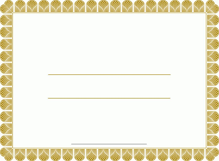 Blank Certificates | Certificate Templates