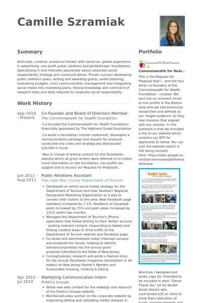 Board Of Directors Resume samples - VisualCV resume samples database