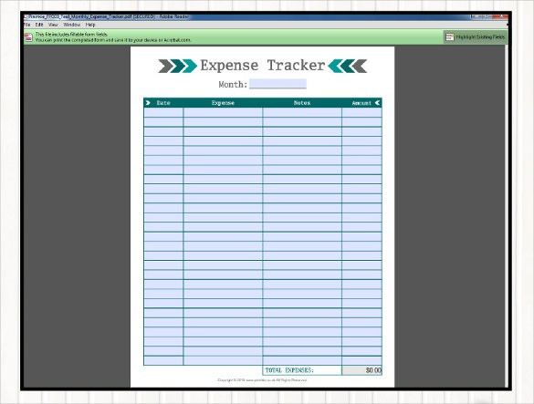 18+ Expense Tracking Templates – Free Sample, Example Format ...