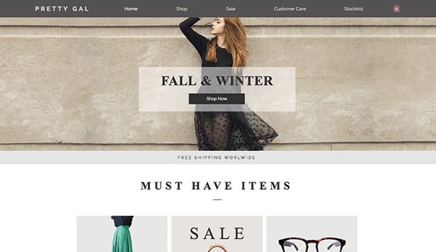 Fashion & Clothing Website Templates | Online Store | Wix