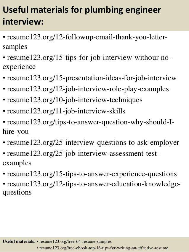 job board. more resume help plumbing engineer sample resume ...