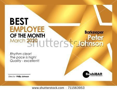 Employee Of The Month Wall Vector - Download Free Vector Art ...