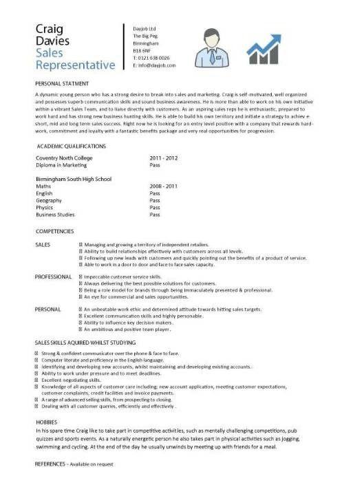 Sales Representative Resume Sample | Enwurf.csat.co
