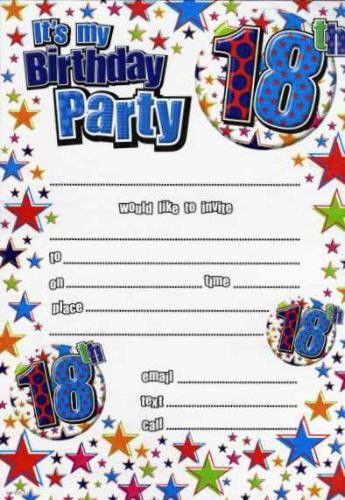 18th Birthday Party Invitations - Themesflip.Com
