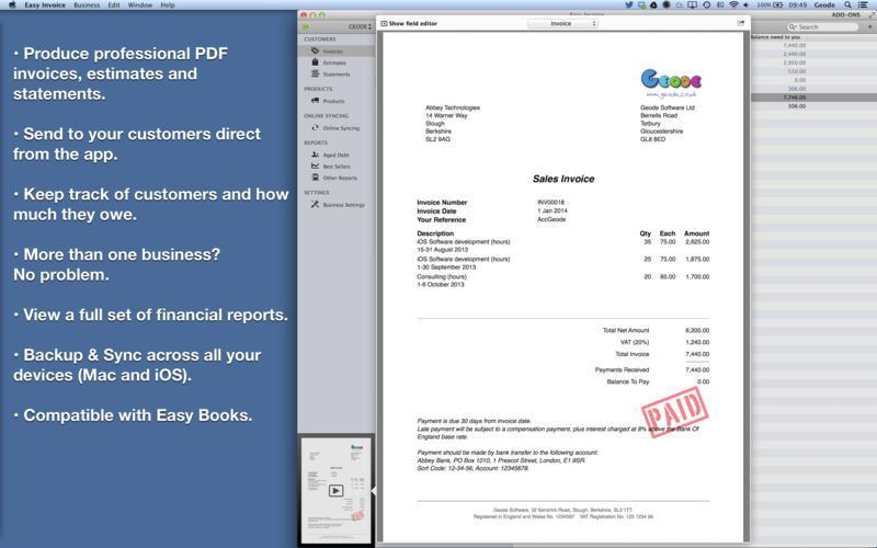 Easy Invoice (PDF generator) on the Mac App Store