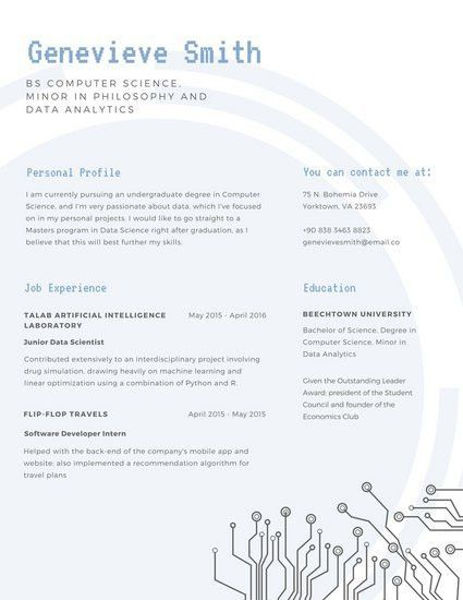 Blue Simple Scholarship Resume - Templates by Canva