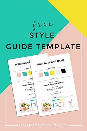 Free Style Guide Template for Your Brand - Tell Me Tuesday