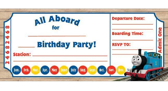 9+ Train Birthday Invitations for Kid – Free Printable Templates ...