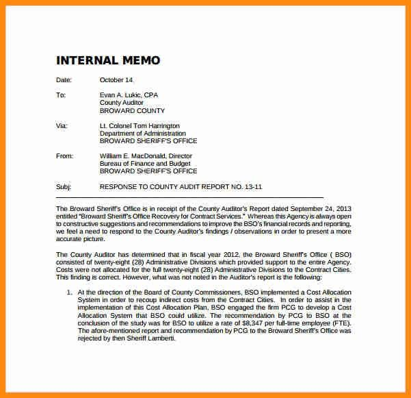 Audit Memo. An Example Of A Memo Company-Audit-Memo-Template ...