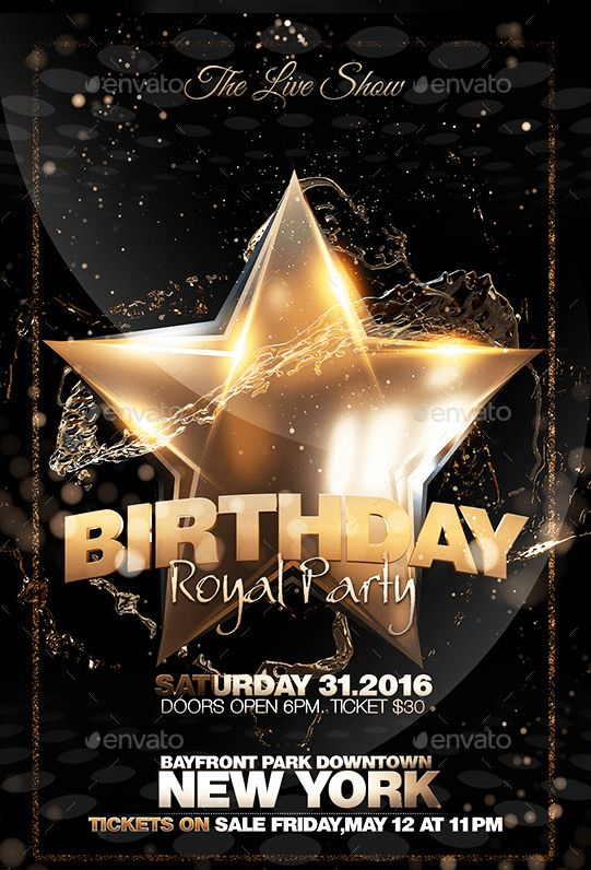 20 Beautifully Designed PSD Birthday Party Flyer Templates ...