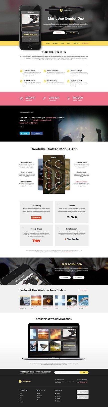 16 best Software Website Templates images on Pinterest | Website ...
