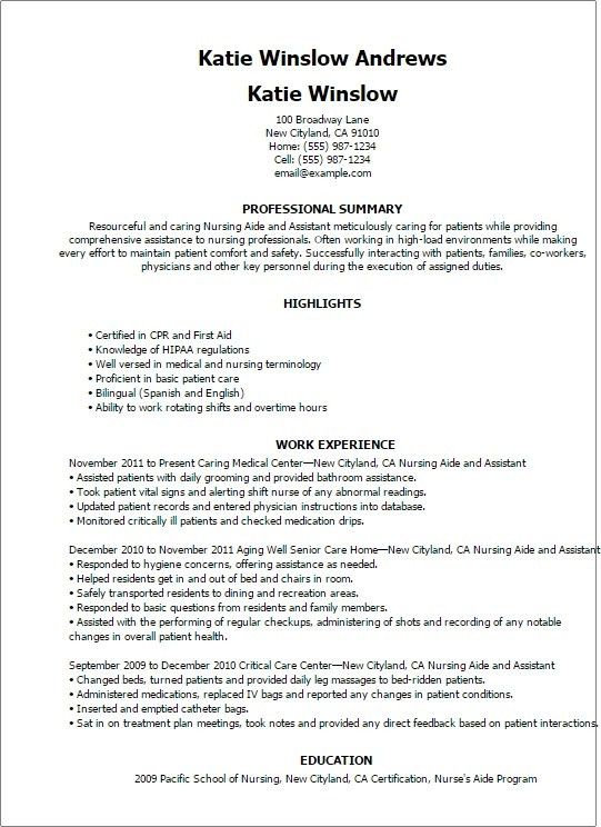 Physical Therapy Aide Resume – Resume Examples