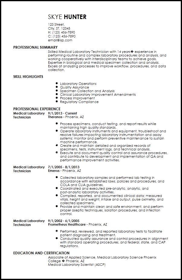 Free Contemporary Medical Resume Templates | ResumeNow