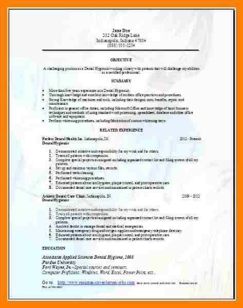 dental hygiene resume. writing dental assistant resume effectively ...