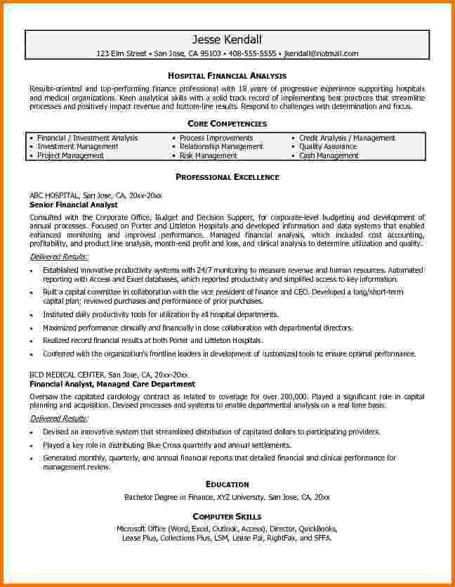 9+ financial analyst resume examples | Financial Statement Form