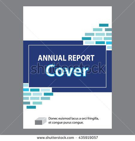 Blue Annual Report Title Page Sample Stock Vector 435919057 ...