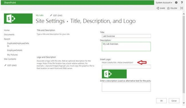 Change the Title, Description and Logo Image in SharePoint 2013