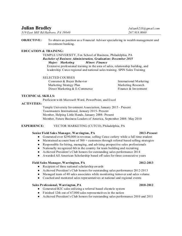 sample financial advisor resume sample resumes financial advisor