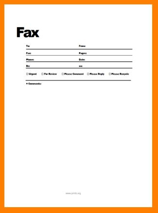 printable fax cover sheet template