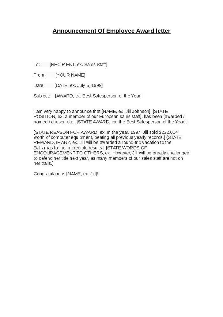 Doc.#7281031: Employee Leaving Announcement Sample – Sample ...