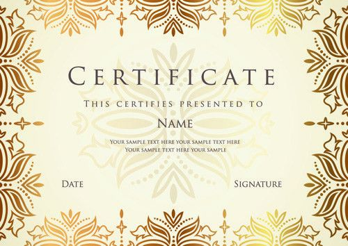 Best Certificates design vector set 06 - Vector Cover free download