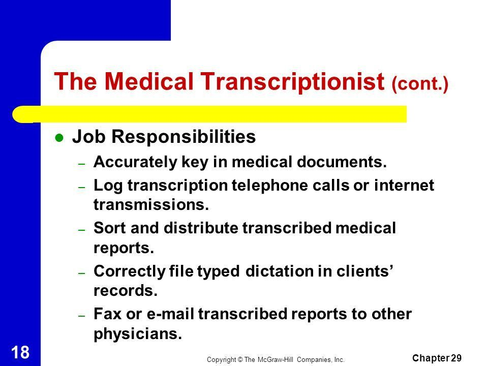 medical transcriptionist. ideas collection sample resume for ...