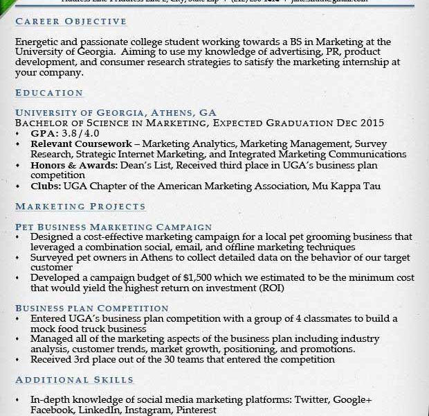 Beauteous College Resume Examples Opulent - Resume CV Cover Letter