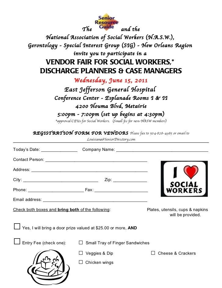 Ejgh Vendor Fair Vendor Registration Form 2011