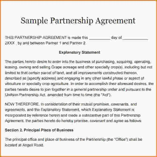 9+ free partnership agreement | Loan Application Form