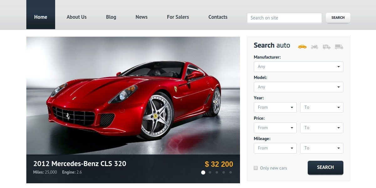 15+ Car Dealer Website Themes & Templates | Free & Premium Templates